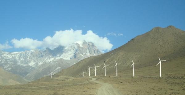 Wind turbines in Mustang area - Nepal