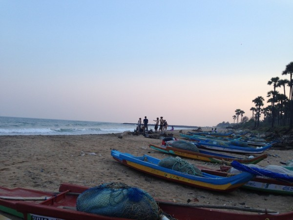 Sunset on Pondicherry's beach