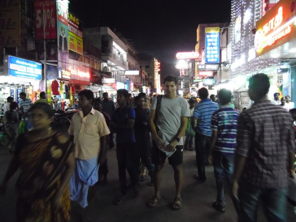 Nehru Street by night