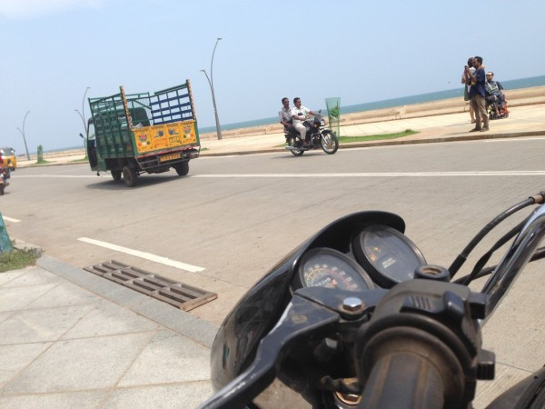 Sea's  bay in Pondicherry