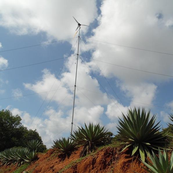 A small wind turbine in Auroville