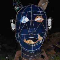 A sculpture from recycled objects