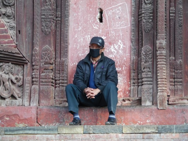 A Nepalese people with mask